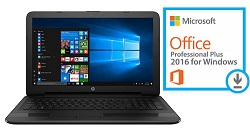"HP 15-AY191MS 15.6"" Touchscreen Intel Core i3 8GB Laptop w/MS Office 2016 (Refurb)"