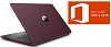 "HP 15-DB 15.6"" AMD A4 4GB Laptop PC w/MS Office Pro 2019 (Maroon/Ash) (Refurbished) THUMBNAIL"