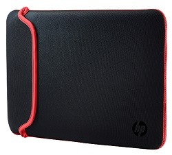 "HP Carrying Case Sleeve for 15.6"" Laptops (Red/Black)"