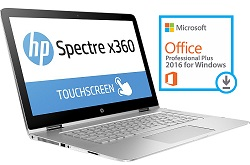 "HP Spectre x360 15.6"" UHD Touchscreen Intel Core i7 16GB RAM Laptop PC with Office Pro 2016 (Refurb)"