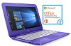 "HP Stream 14"" Intel Celeron 4GB RAM 32GB Storage Laptop PC w/MS Office Pro Plus 2016 (Purple)"