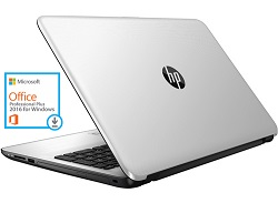 "HP 15-AY138CL 15.6"" Intel Core i7 16GB RAM Laptop w/MS Office 2016 (Silver) (Refurbished)"