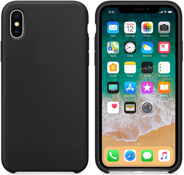 iPhone X Silicone Case with 3D Screen Protector