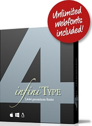 infiniType 4 7,444 Premium Fonts with Unlimited Web Fonts for Mac/Windows/Linux (Download) LARGE