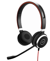 Jabra EVOLVE 40 Noise Cancelling USB Headset (On Sale!) LARGE