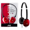 JVC HA-S160 FLATS Lightweight Headphones (Red)