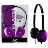 JVC HA-S160 FLATS Lightweight Headphones (Violet)