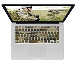 KB Covers Keyboard Cover for MacBook, MacBook Air & MacBook Pro (Camo)