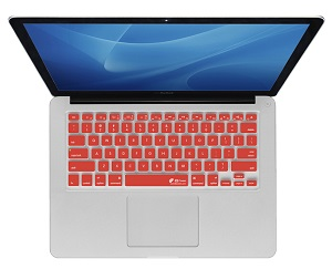 KB Covers Keyboard Cover for MacBook, MacBook Air & MacBook Pro (Red) LARGE