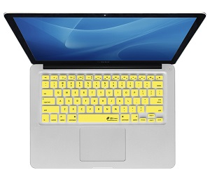 KB Covers Keyboard Cover for MacBook, MacBook Air & MacBook Pro (Yellow) LARGE
