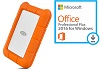 LaCie Rugged USB-C 2TB Portable Hard Drive with Microsoft Office Pro Plus for Windows