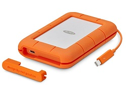 LaCie Rugged Thunderbolt USB-C 4TB Portable Hard Drive with FREE AntiVirus Software (Windows) LARGE