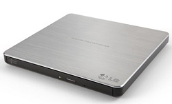 LG External Ultra Slim CD/DVD Reader/Writer with TV Connectivity (Silver) LARGE
