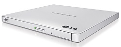 LG External Ultra Slim CD/DVD Reader/Writer with TV Connectivity (White) LARGE