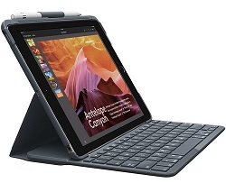 Logitech Slim Folio Keyboard/Cover Case for iPad Aird 3rd Gen LARGE