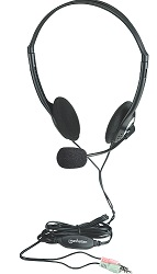 Manhattan Lightweight Stereo Headset with Mic (3-Pack) LARGE