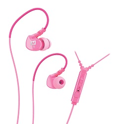 MEE Audio M6P Memory Wire Sports Earphones with Mic, Remote & Volume Control (Pink)