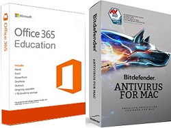 AntiVirus 2017 with FREE Microsoft Office 365 Education (MAC)