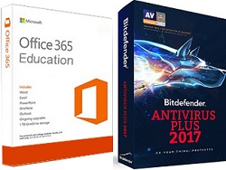 AntiVirus 2017 with FREE Microsoft Office 365 Education (Windows)
