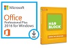 Microsoft Office 2016 Pro Plus for Windows with H&R Block Basic 2016 (WAH Download)