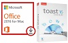 Microsoft Office 2016 for Mac with Roxio Toast 16 Titanium (WAH Download)