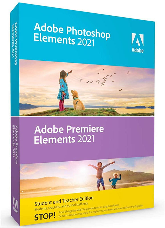 Adobe Photoshop Elements 2021 & Premiere Elements 2021 Student & Teacher Edition (DVD) LARGE