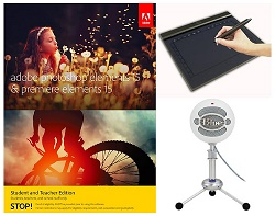 Adobe Photoshop Elements 15 & Premiere Elements 15 for Students & Teachers Production Kit (Download)