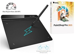 "XP-Pen StarG640 6x4"" Ultrathin Graphics Tablet w/Corel PaintShop Pro 2021 (Download) LARGE"