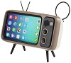 Retro TV Smartphone Stand with Bluetooth Speaker (2 Colors) THUMBNAIL