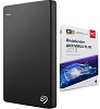 Seagate Backup Plus Slim 1TB Portable USB 3.0 External Hard Drive with AntiVirus Software