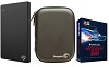 Seagate Backup Plus Slim 1TB Portable USB 3.0 External Hard Drive Deluxe Edition with FREE! Case