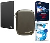 Seagate Backup Plus Slim 1TB Portable USB 3.0 External Hard Drive Premium Edition w/FREE! Case (Win)