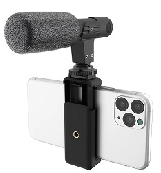 DigiPower Universal Shotgun Mic Kit for Smartphones & Digital Cameras LARGE