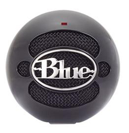 Blue Microphones Snowball Professional USB Mic (Gloss Black) with FREE Earbuds_LARGE