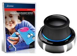 SolidWorks Student Edition 2016-2017 with 3Dconnexion SpaceNavigator 3D Mouse