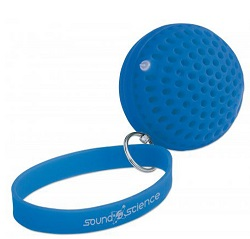 Manhattan Sound Science Atom Glowing Wireless Speaker with Wrist Strap (Blue)