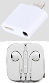 iPhone Splitter - Lightning Port and Headphone Port with Earbuds (FREE SHIPPING!)