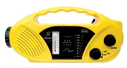 Stansport Hand Crank/Solar Battery Radio/Flashlight