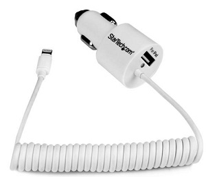 StarTech Dual Port Car Charger with Lightning Connector