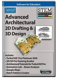 TurboCAD Advanced Architectural 2D Drafting and 3D Design STEM Solution (ESD) LARGE