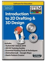 TurboCAD Introduction to 2D Drafting and 3D Design STEM Solution (Electronic Software Download) LARGE