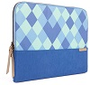 "STM Grace Laptop Sleeve for 15"" Notebooks with FREE Portable Charger (Blue Diamonds)"