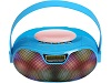 Supersonic SC-1446BT Bluetooth Portable Speaker System with FM Radio (Blue)