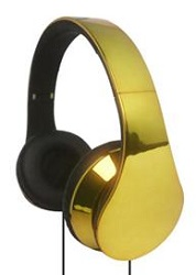 Supersonic IQ Sound IQ-215 High Performance Headphones (Gold)