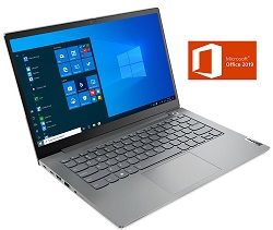 "Lenovo ThinkBook 14 G2 ARE 14"" FHD AMD Ryzen 5 8GB RAM Laptop with Win 10 Pro & MS Office Pro 2019 LARGE"
