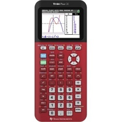 Texas Instruments TI-84 Plus CE Graphing Calculator (Radical Red) (On Sale!) LARGE