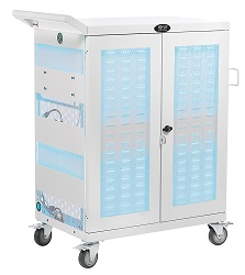 Tripp Lite 32-Device Multi-Device UV Charging Cart Antimicrobial LARGE