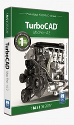 TurboCAD Mac v12 Pro with PowerPack Plug-In (Download) LARGE