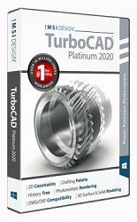 TurboCAD 2020 Platinum for Windows 10-User School License (Download) LARGE