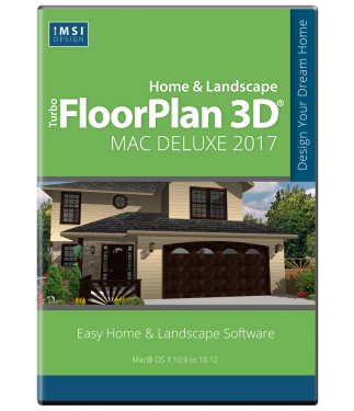 TurboFloorPlan Home & Landscape Deluxe Mac 2017 LARGE